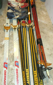 2  pairs of Vivant TW200 /1 pair of Germina sport skis and boots