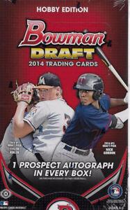 2014 Bowman Draft Baseball Sealed Hobby Edition Box