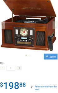 Innovative Technology Victrola 7-in-1 Wooden Music Centre.
