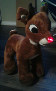 Rudolph with light up nose Christmas
