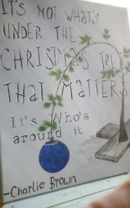 Christmas painting...Charlie Brown quote