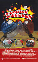Montreal Bubble Ball,Bubble Soccer,Soccer Bulle
