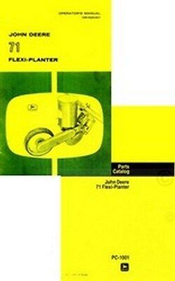 John Deere 71 Flexi-planter Seed Planter Owner Operators Parts Catalog Manual Jd