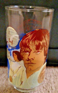 1977 STAR WARS LUKE SKYWALKER Burger King Coca-Cola Glass