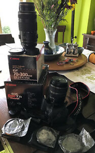 Canon EOS Rebel T2i - 2 lenses, filters!