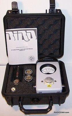 Bird 43 Wattmeter HF VHF 50C 100H 50W Load case element