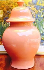 15 inches tall Vintage large Ceramic Jar with lid / Vase