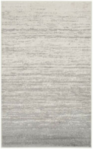 Mcguire Ivory/Silver Area Rug 5x8 Contemporary/modern/minimalist
