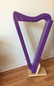 Harpsicle, 26-string, violet colour, gently used.