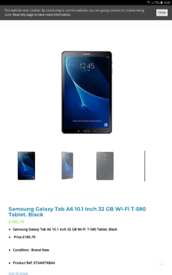 Samsung tablet a6 10.1 inch boxed unlocked