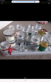 Empty candle jars, various sizes