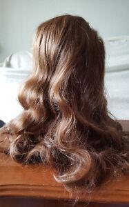Medium Dark Brown Color Long Wavy Hair Wig (3)