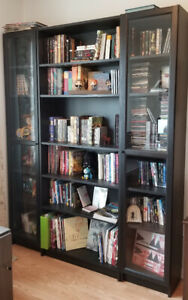 Black Ikea Bookcases (3 pieces)