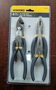 Brand New Workforce 4 pieces pliers set