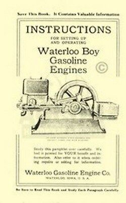Waterloo Boy 2 5 6 8 And 12 Hp Gas Engine Setting Up Operators Manual