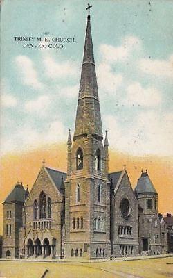 Postcard Trinity Me Church Denver Co 1909