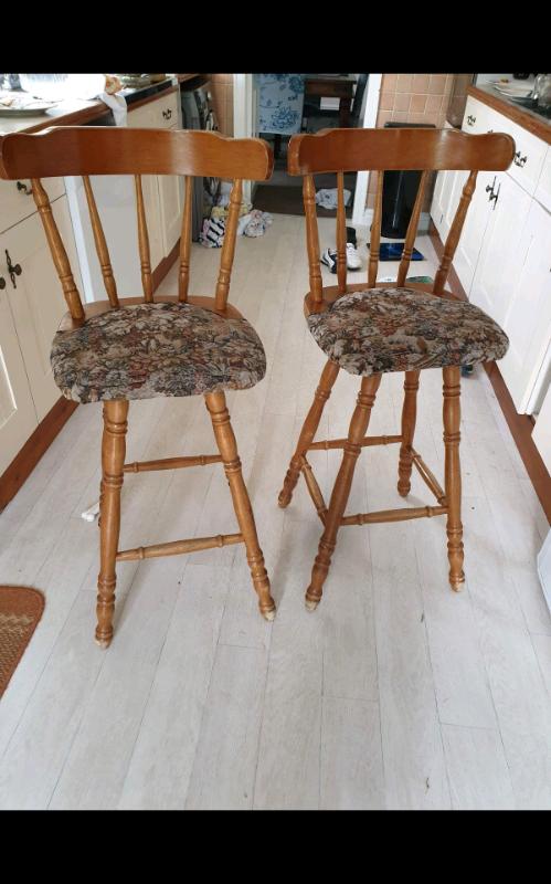 Fine Vintage Pine Breakfast Bar Stools High Chairs Wooden Solid In Bridlington East Yorkshire Gumtree Evergreenethics Interior Chair Design Evergreenethicsorg