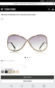 Tom ford Designer womens sunglasses 10/10 Condition