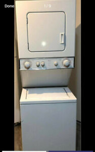 24 inch Whirlpool stackable washer and dryer for sale