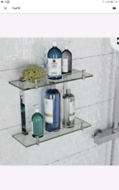 Victoria Plum Bathroom Shower Glass Shelf new never used