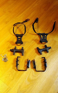 Pedals With Straps for road bike
