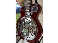 LEFT HANDED TANGLEWOOD TBS500 RESONATOR BLUES GUITAR IN NEW CONDITION .