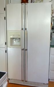 "REFRIGERATOR.  35"" Side by Side Water & Ice Dispenser.  Kenmore."