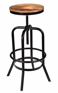 RESTAURANT INDUSTRIAL SWIVEL WOODEN SEAT BAR STOOL COUNTER STOOL