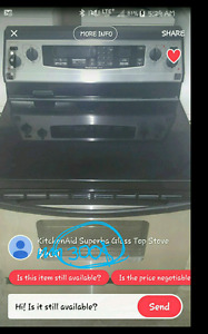 Kitchen aid stainless steel convection oven