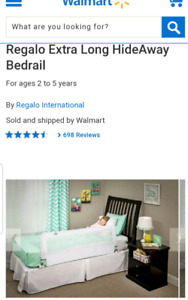 2 x Regalo Extra Long Hideaway Bed Rail