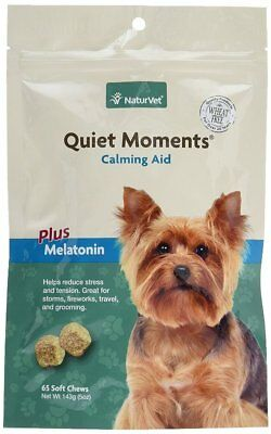 NaturVet Quiet Moments plus Ginger for Dogs Puppies Stress Soft Chews Bag 65 ct