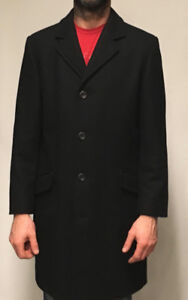 MENS MEXX WOOL JACKET - size S, black