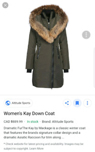 "BRAND NEW LARGE MACKAGE ""KAY"" LADIES' PARKA  (COLOUR: GREEN)"