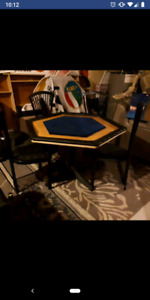 6 person poker table with 4 chairs