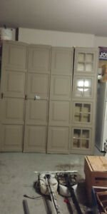Used Wood Garage Door 8x7 - Good Condition - Just $100