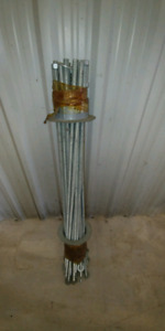 24 only 9/16 x 3 foot galvanized threaded rods like new.