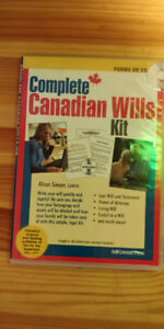 Canadian legal wills kit CD