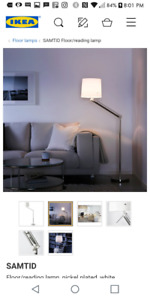 2 matching floor lamps