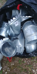 Ducting elbows and boots - 42 piece lot - HVAC Venting Metal