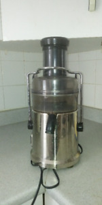 stainless steel and black power juicer