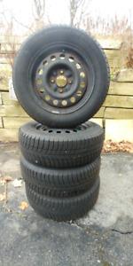 Michelin snow tires on wheels (4) - 195/65R15