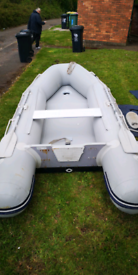 Inflatable boat 3.3m with air deck and v floor
