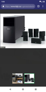 5.1 Bose acoustamass 10 home theater system with Yamaha receiver