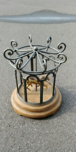 Cast Iron Carousel Side Table