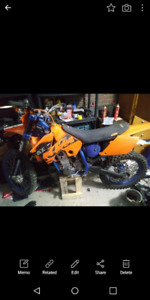 2005 Ktm 525 sx with ownership