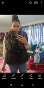 Canadian made fox fur stole