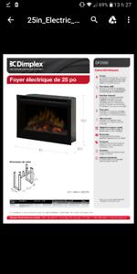 Foyer Électrique Dimplex 25 pouce