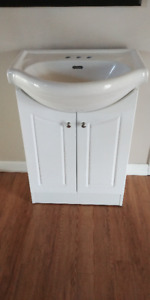 $246 Retail - Two-Door Vanity - White