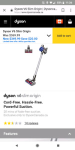 Used Dyson V6 slim for sale