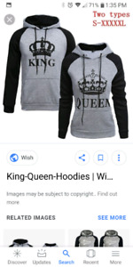 King and queen couples sweaters